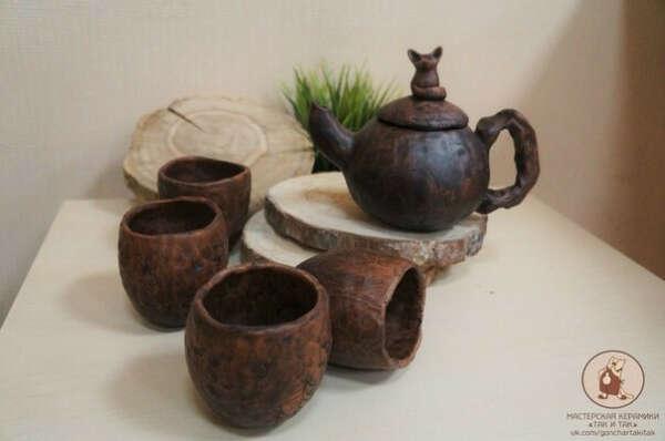 Слепить чайный набор из керамики