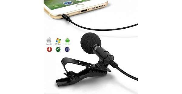 Петличный микрофон для Apple, Android устройств
