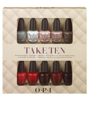 Набор из 10 миниатюрных лаков для ногтей O.P.I Take Ten