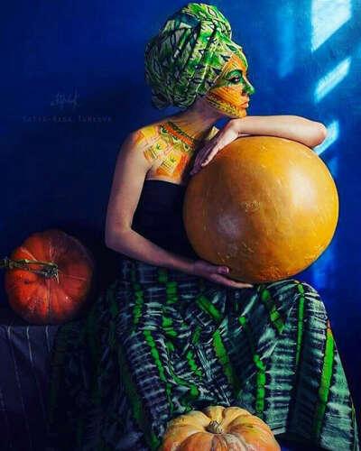Фотосессия в африканском стиле + бодиарт