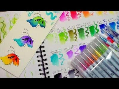 Акварельные маркеры ZIG Clean Color Real Brush