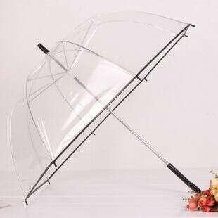 Прозрачный складной зонт (не трость)