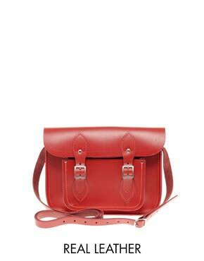 """Красная кожаная сумка-сэтчел Cambridge Satchel Company 11"""""""