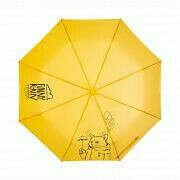 Зонт Funny Rain Cat желтый, автомат