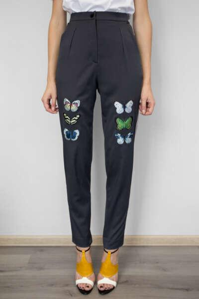 Pants Butterflies Grey