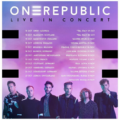 Билет на концерт One Republic 20.11.2020