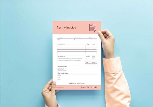 Nanny Invoice Template