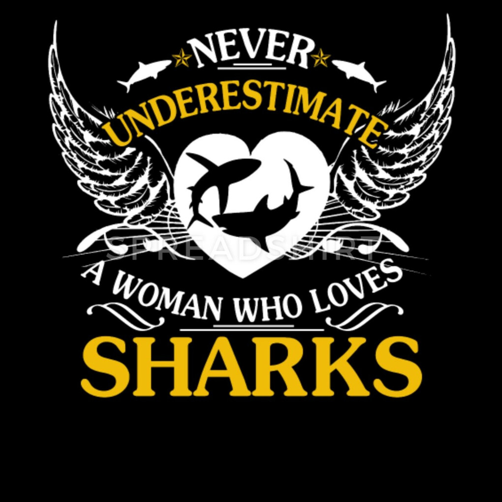Do you want to edit the design? Never Underestimate A Woman Who Loves SharkMen's Premium T-Shirt