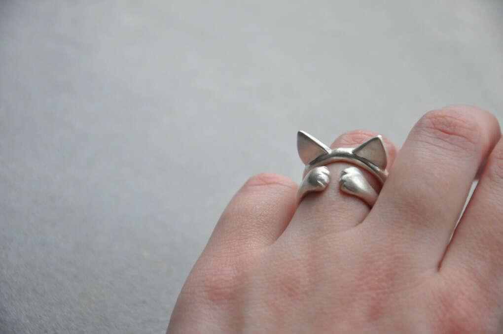 """Серебряное кольцо """"Лапки"""""""