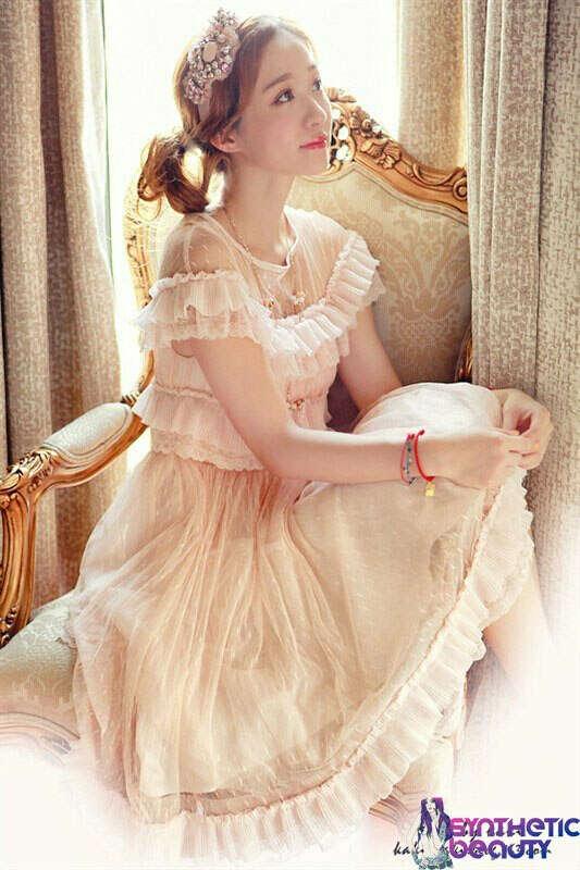 Романтическое платье с воланами