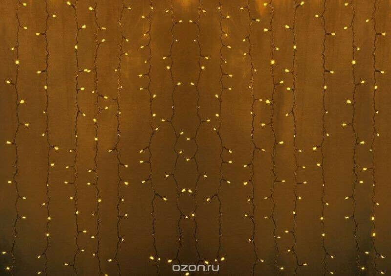 Золотая гирлянда-занавес