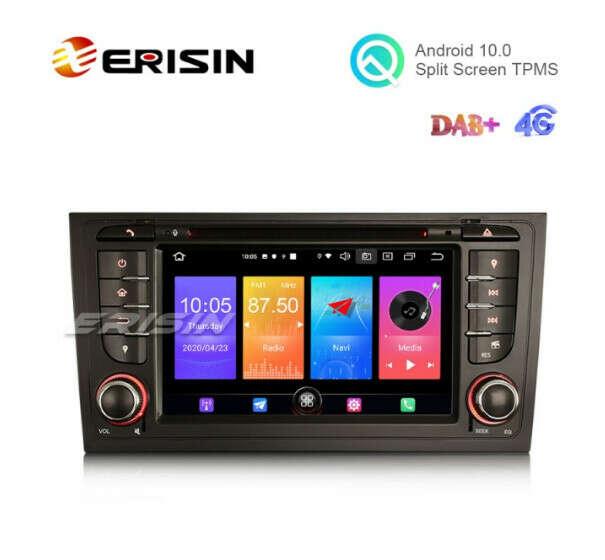 "Erisin ES2706A 7"" Audi A6 S6 Android 10.0 Car DVD Player 4G GPS DAB+ Radio System - Erisinworldwide"