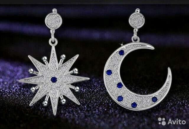 Серьги ~Луна и Звезда~