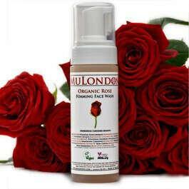 Organic Rose Foaming Face Cleanser - MuLondon - Natural Organic Skincare. Based on pure castile soap.
