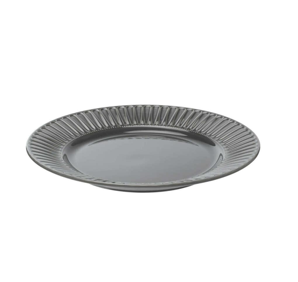 STRIMMIG СТРИММИГ Тарелка, каменная керамика серый 27 см