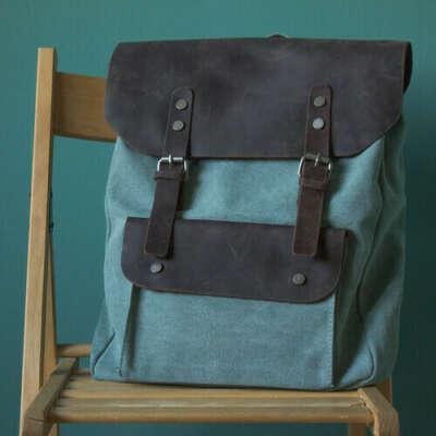 Рюкзак N6 бирюзовый