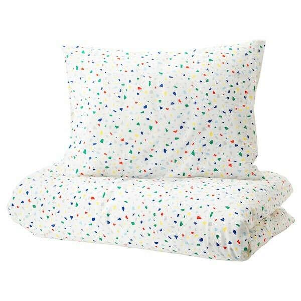 Купить МЁЙЛИГХЕТ Пододеяльник и 1 наволочка, белый, мозаичный орнамент, 150x200/50x70 см по выгодной цене в интернет-магазине - IKEA