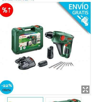 OUTLET Bosch Martillo perforador a batería Uneo (12 V, 1 batería, cargador, Portabrocas adicional para brocas cilíndricas, Power for all, Sistema SDS, Cargador, 4 puntas, Maletín, 2,5 Ah)