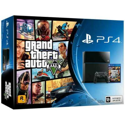 Игровая приставка PS4 Sony 500GB + GTA V (CUH-1108A)