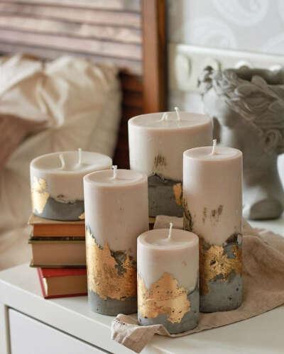 Бетонные свечи Decoraholic