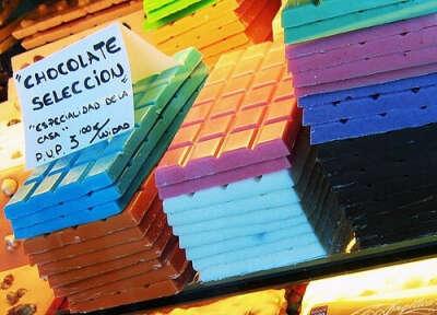 Цветной шоколад