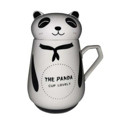 Кружка с крышкой Great Coffee Панда 300 мл