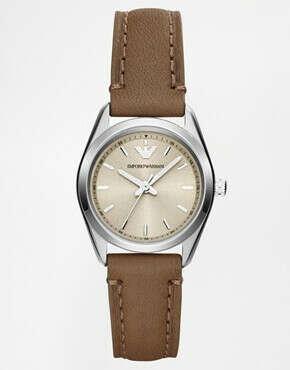 Часы с кожаным ремешком Emporio Armarni Tazio