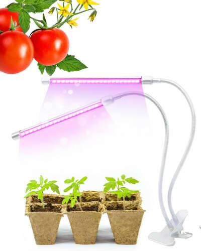 Светильник для растений светодиодный с таймером, на прищепке/ Лампа для растений/ Фитолампа
