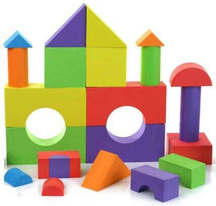 Кубики из мягкого полимера