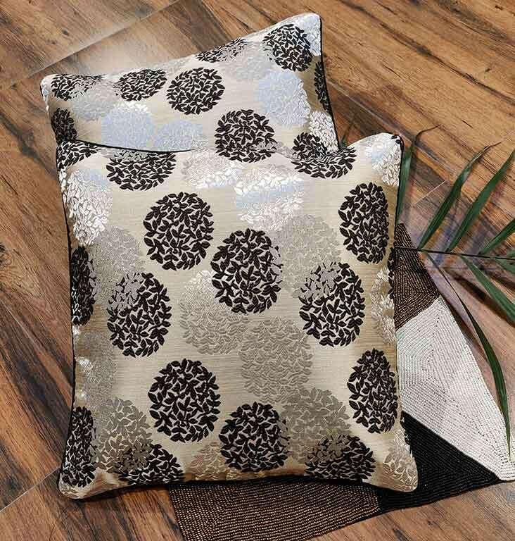 Weaved Black Monotone Cushion Cover – Set of 5