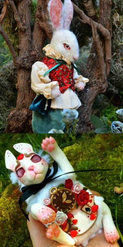 Игрушка белый кролик