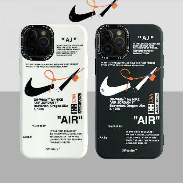 オフホワイト ナイキ iPhone12/12pro maxケース ペア OFF-WHITE NIKE アイフォン12mini/12pro保護カバー カッコイイ
