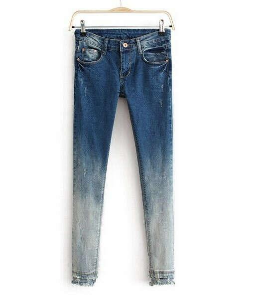 джинсы омбре