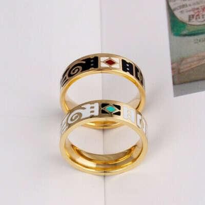 Эмалевые кольца тёмное и светлое