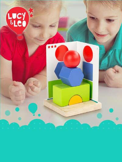 Деревянная игрушка Простая геометрия/ Головоломка/ Игровой набор/ Настольные игры для детей, LUCY&LEO