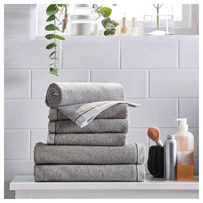 ВИКФЬЕРД Банное полотенце - серый - IKEA