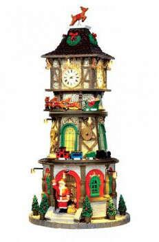 Рождественская часовая башня (свет, звук, динамика), 15.5x32.5x15.5 см, адаптер, Lemax