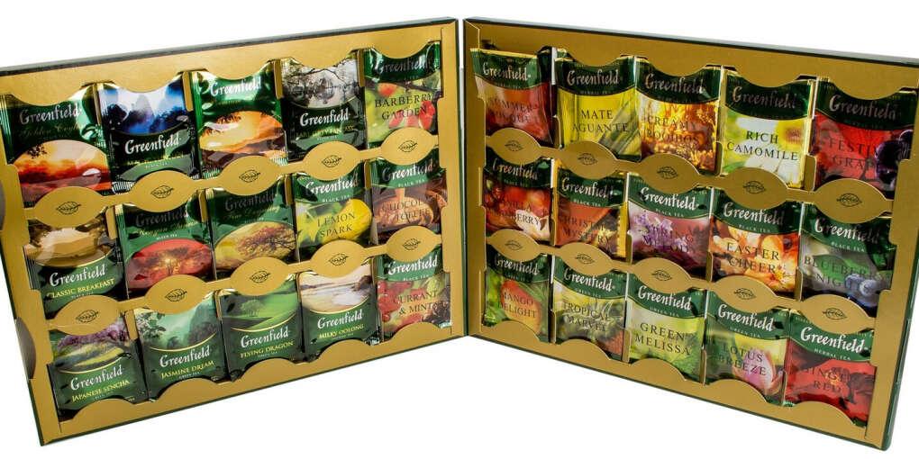 Набор РАЗНОГО чая в пакетиках (Гринфилд, Тесс, Кертис... Любой)