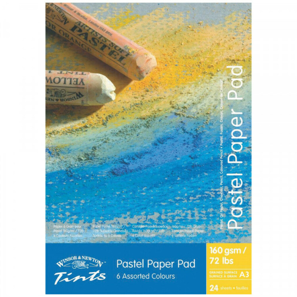 Winsor & Newton : Tints Pastel Pad : 24 Sheets : 160gsm : 6 Colours : A3