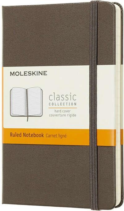Moleskine Блокнот Classic Pocket 9 x 14 см 96 листов в линейку цвет коричневый