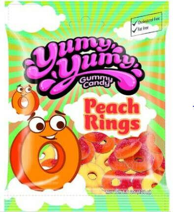 YUMY YUMY GUMMY CANDY - PEACH RINGS GUMMY CANDY