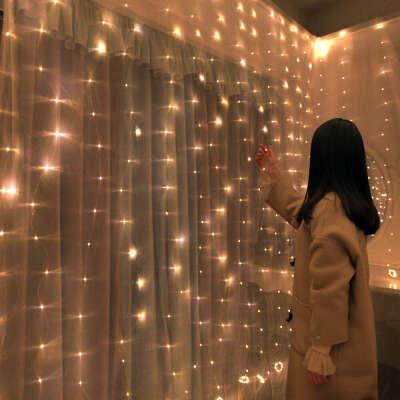 310.25руб. 34% СКИДКА Рождественские украшения для дома 3 м 100/200/300 светодиодный светильник для занавесок гирлянда для вспышки сказочная гирлянда с новым годом 2021 новогодние украшения 2021 новогодние гирлянды новогодние украшения ново Кулоны и подве