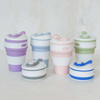 Складная чашка (голубая/зеленая)