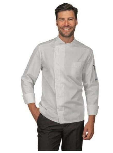 Giacca cuoco chef bilbao Isacco 059320 – colore bianco cotone uomo