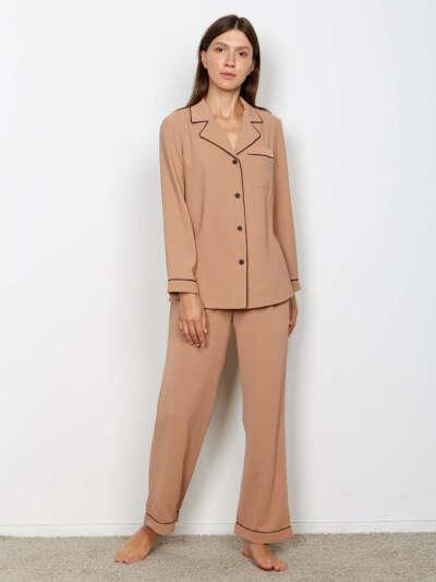 Пижама женская (сорочка, брюки) Light touch, Minaku