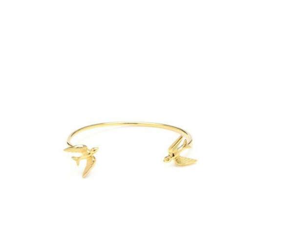 Gold Swallow Bangle
