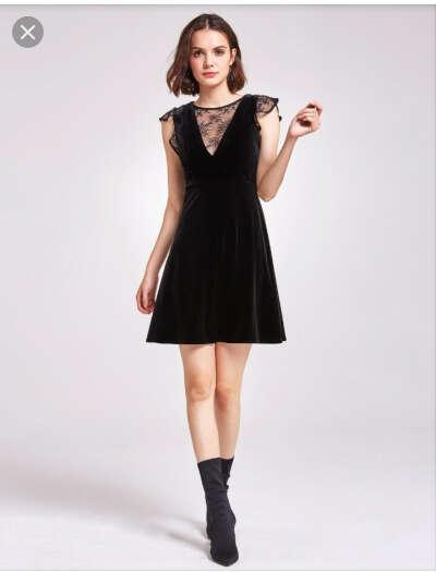 Чёрное универсальное платье