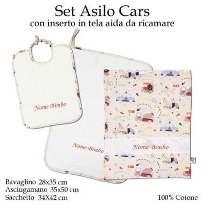 Set Asilo Nido Cars – 3 pezzi
