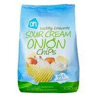 Чипсы из Albert Heijn Luchtig krokante sour cream onion chips