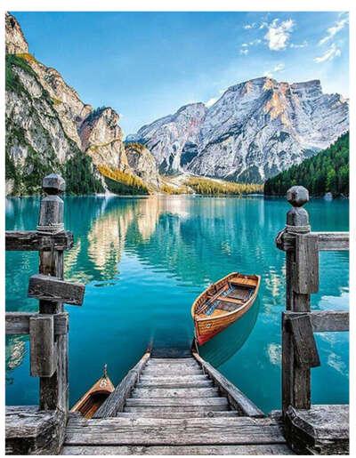 """Картина по номерам Paintboy """"Озеро в горах"""""""